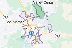 Map of Escondido, California
