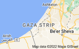 Location of Gaza Strip