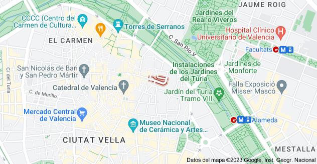 Mapa de Calle del Almirante, 46003 Valencia, España