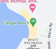 Map of Erangal Beach