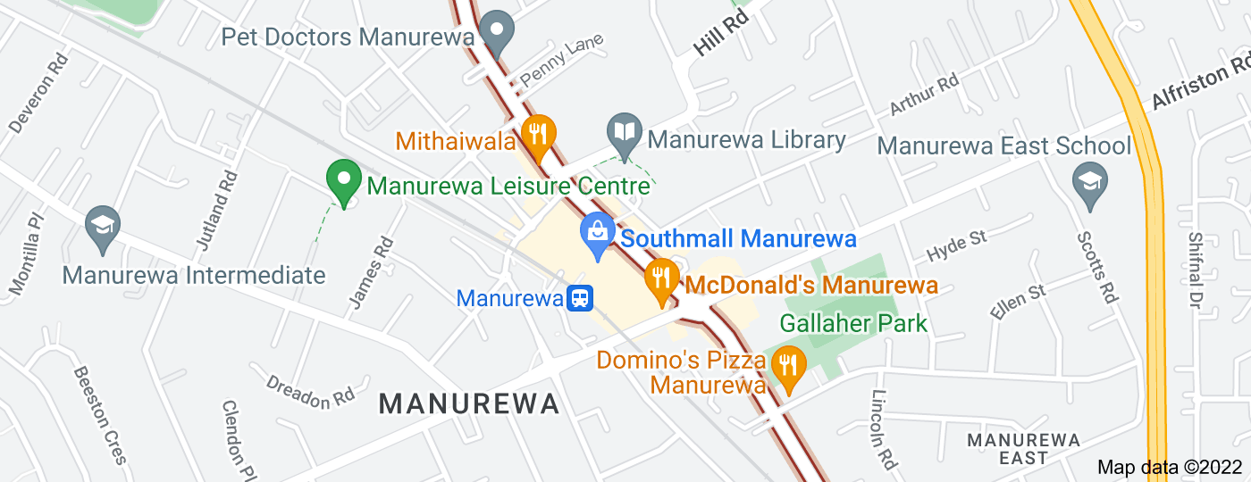 Location of Great South Road, New Zealand