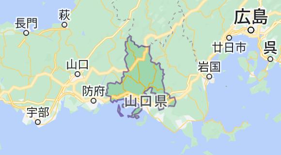 周南市の地図