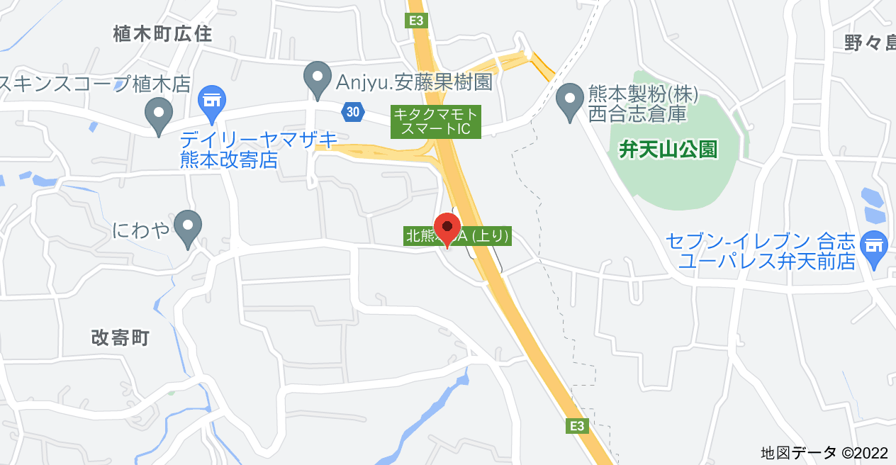 〒861-5501 熊本県熊本市北区改寄町の地図