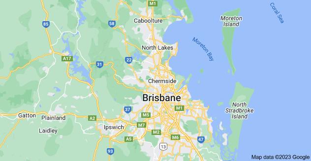 Map of Brisbane QLD