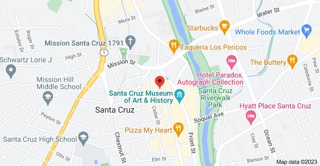 Map of 108 Locust St #5, Santa Cruz, CA 95060