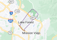 Map of Lake Forest, California