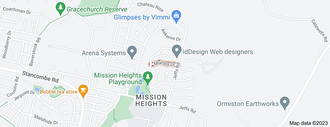 Location of Muirlea Drive
