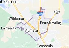 Map of Murrieta, California