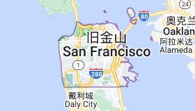 Location of 旧金山
