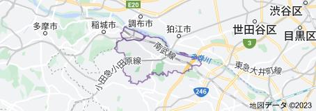 多摩の地図