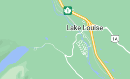 Map of Lake Louise Canada