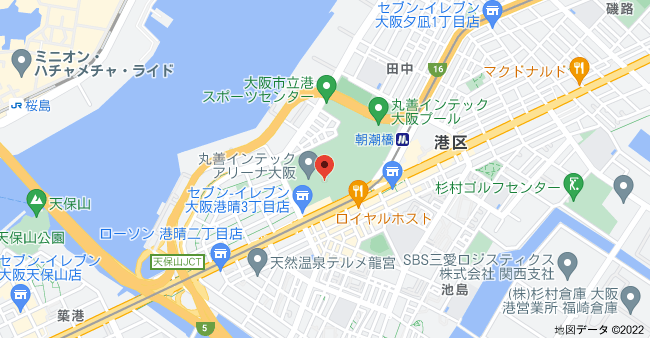 〒552-0005 大阪府大阪市港区田中3丁目1−40の地図
