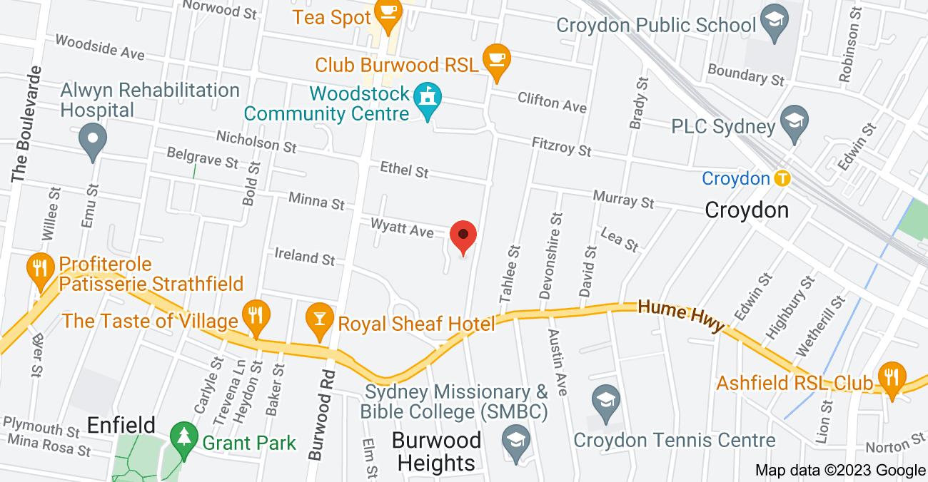 Map of 23 Weldon St, Burwood NSW 2134
