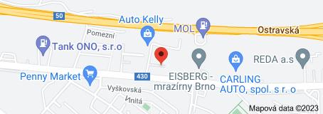Mapa oblasti Autoškola Brno autoškola yes