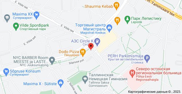 Sõpruse puiestee 209a, 13411 Tallinn: карта