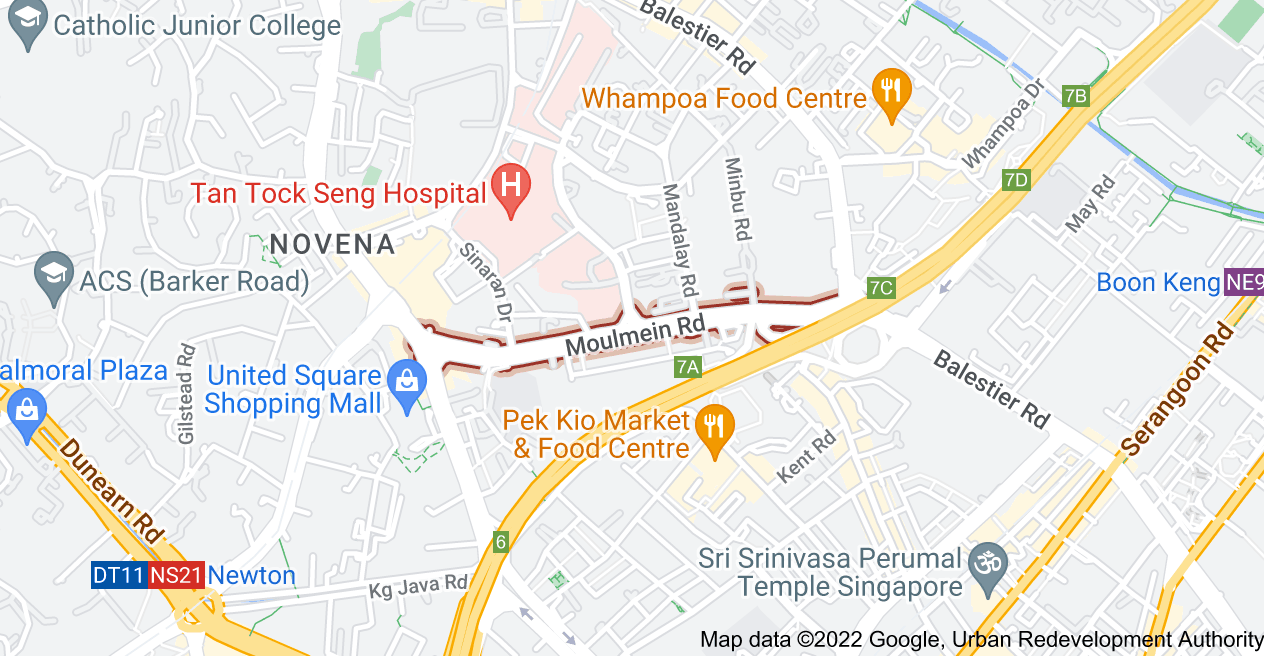 Map of Moulmein Rd
