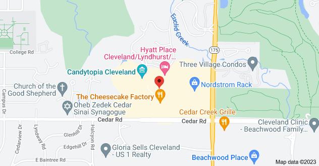 Map of 24325 Cedar Rd, Lyndhurst, OH 44124