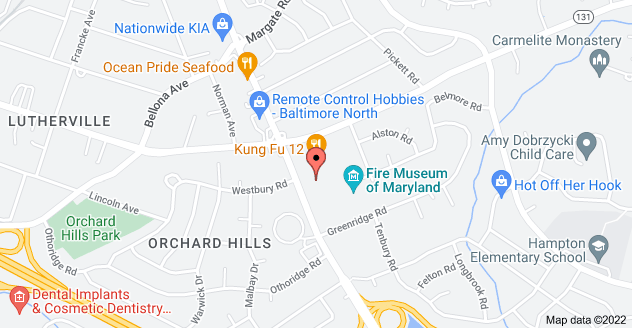 Map of 1401 York Rd, Lutherville-Timonium, MD 21093