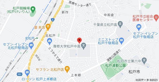 〒271-0064 千葉県松戸市上本郷2−3621の地図