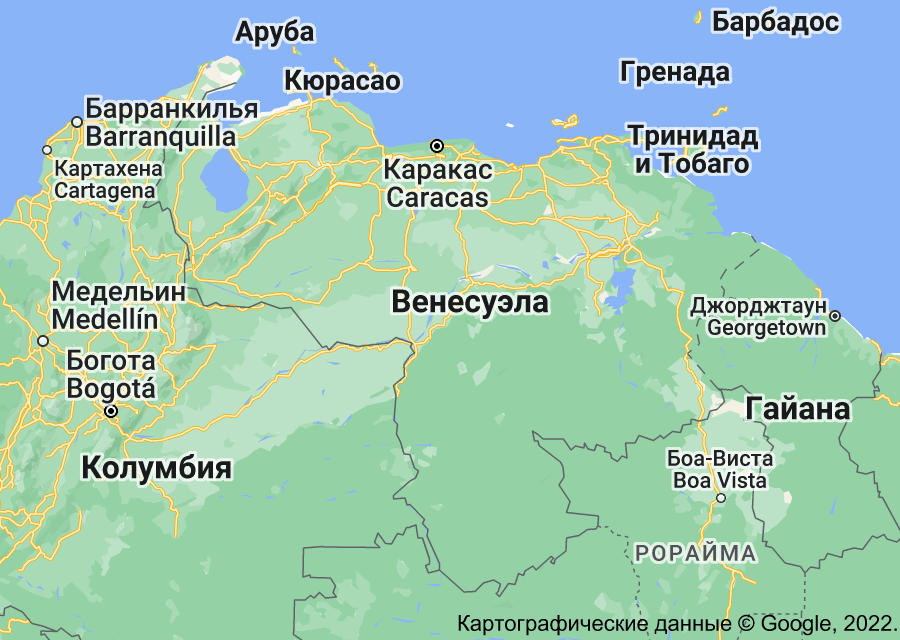 Location of Венесуэла