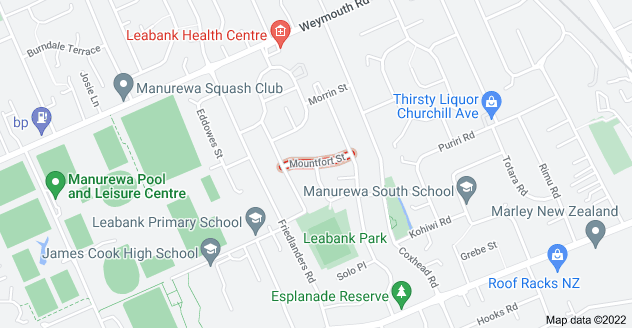 Location of Mountfort Street