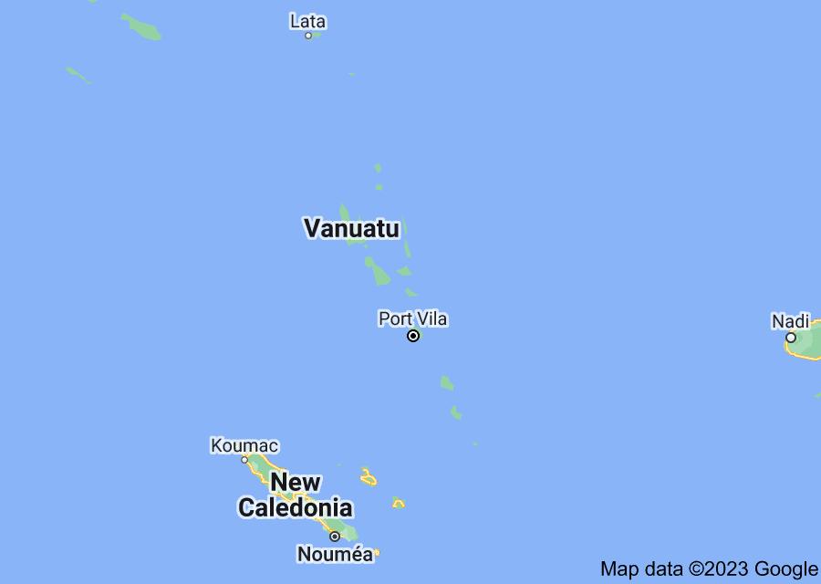 Location of Vanuatu