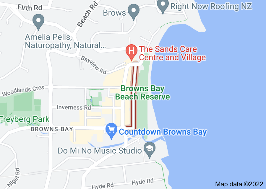 Location of Beachfront Lane