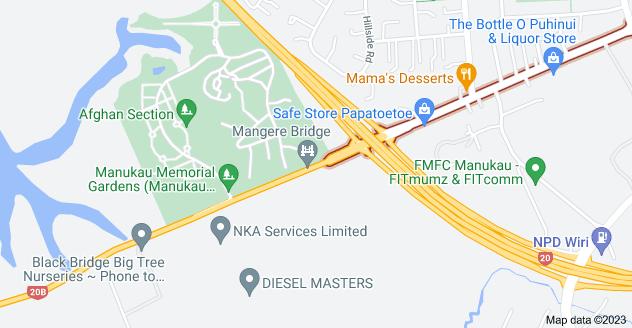 Location of Puhinui Road