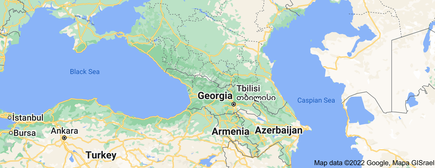 Location of Caucasus