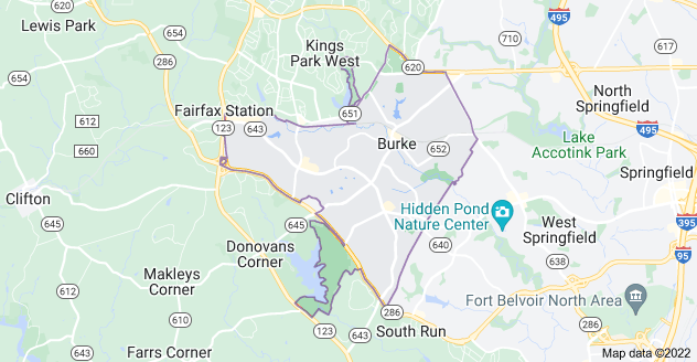 Map of Burke, VA 22015