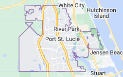 Map of Port St. Lucie