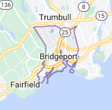 Map of Bridgeport, Connecticut
