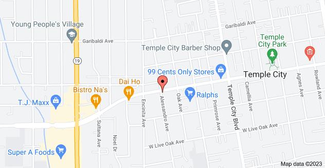 Map of 9400 E Las Tunas Dr, Temple City, CA 91780