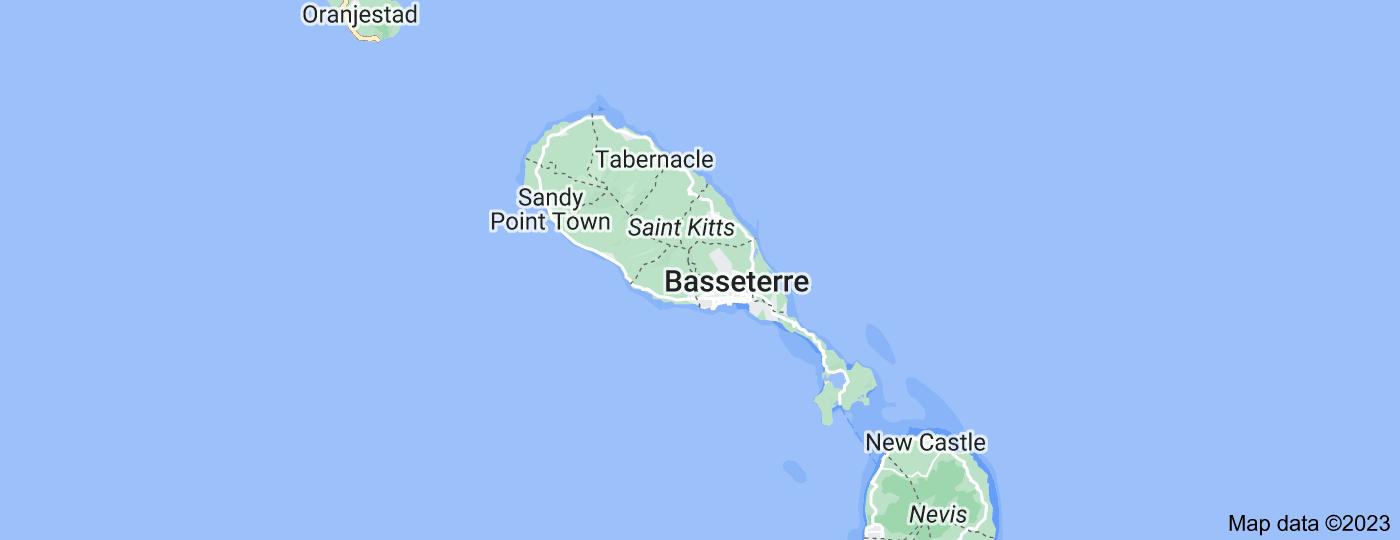 Location of Saint Kitts