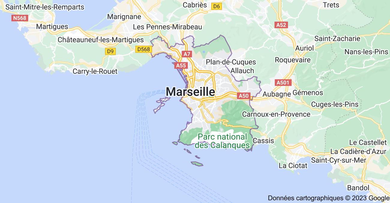 Marseille: carte