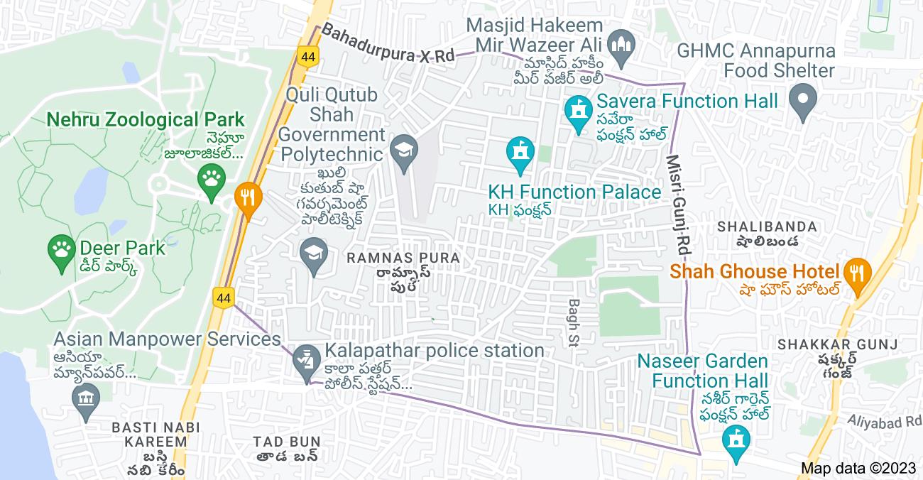 Map of Ramnas Pura, Hyderabad, Telangana, India