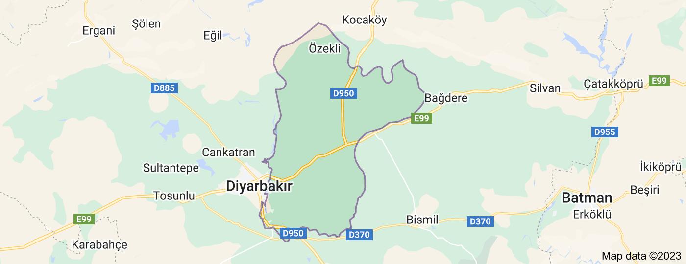 Location of Sur, Diyarbakır