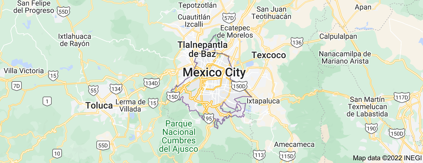 Location of Mexico City