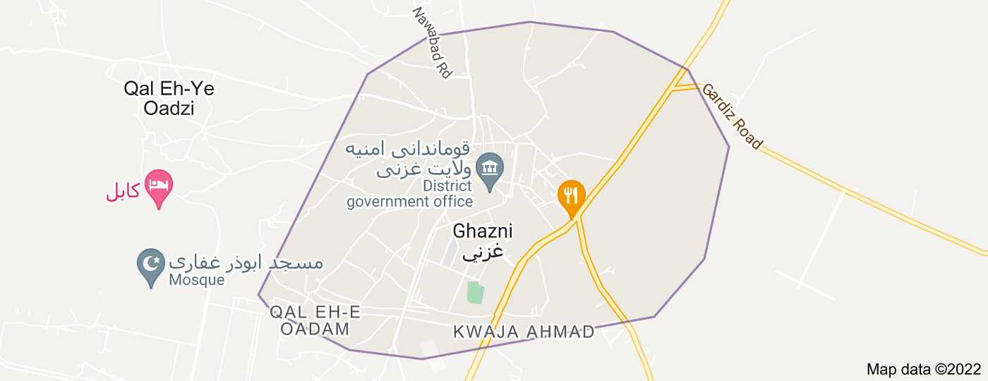 Location of Ghazni