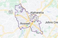 Map of Roswell, Georgia