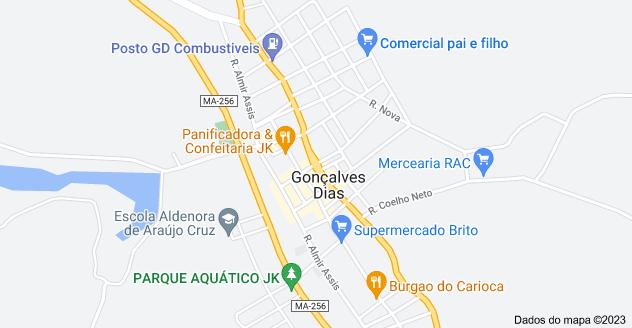 Mapa de Gonçalves Dias, MA, 65775-000