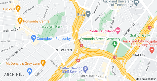 Location of West Terrace
