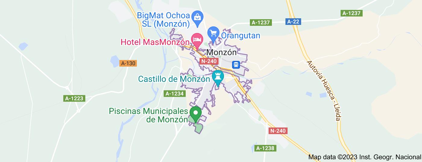Location of Monzón