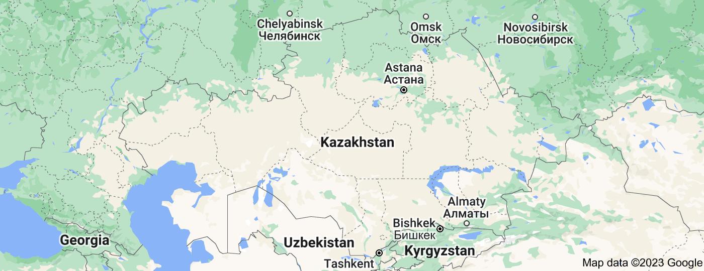Location of Kazakhstan
