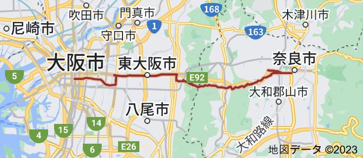 国道308号の地図