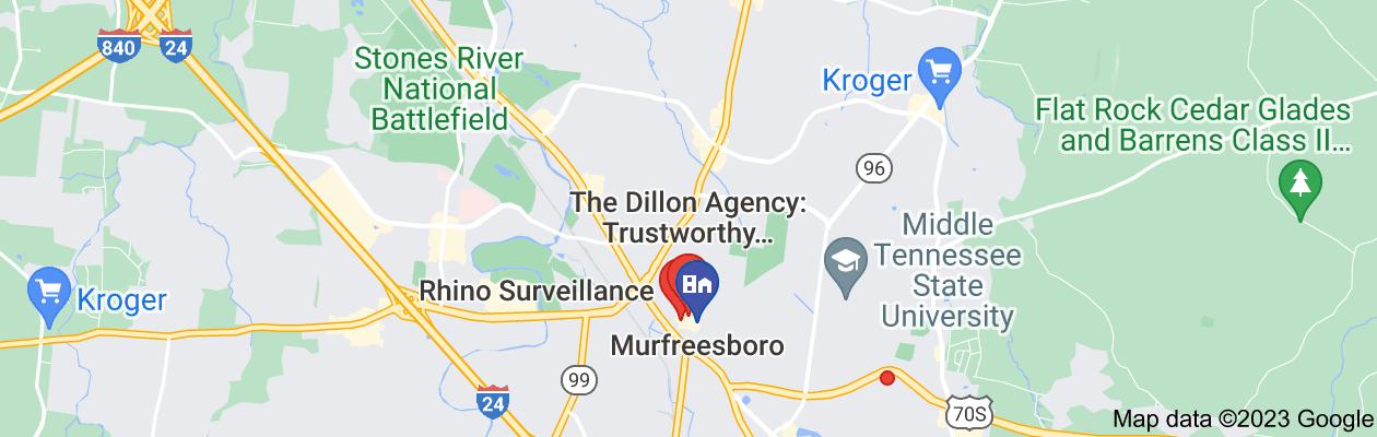 Map of private investigator murfreesboro tn