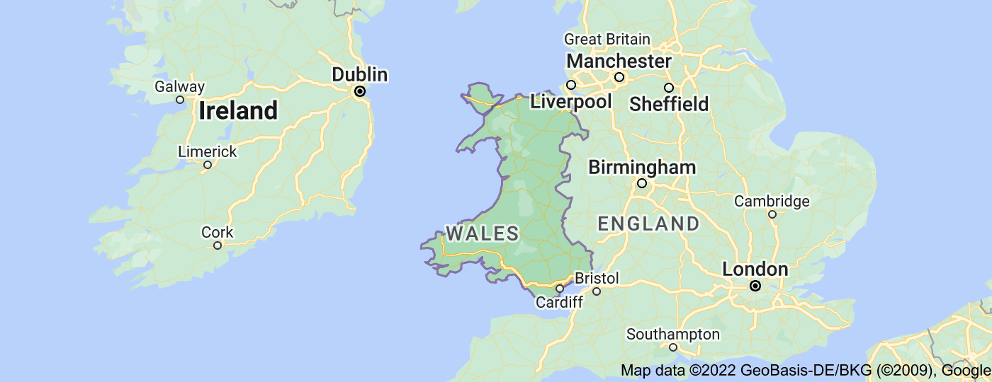 Location of Wales
