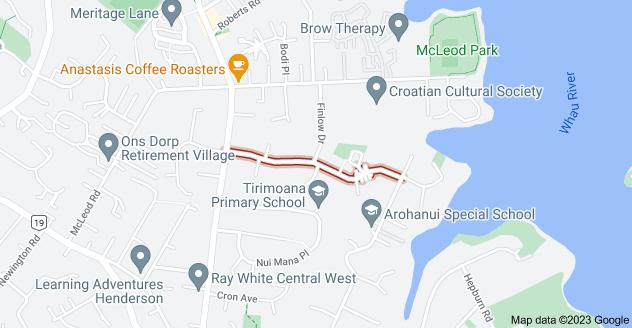 Location of Divich Avenue