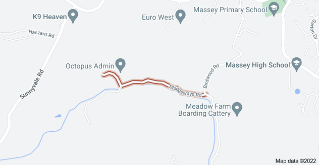 Location of Mudgeways Road