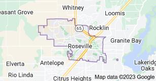 Map of Roseville, California